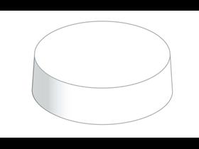 PAPER CAPS  rund Ø 82 mm, weiss Mattkarton unbedruck
