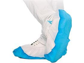 UEBERSCHUHE  weiss-blau, Länge 44 cm; PP, CPE
